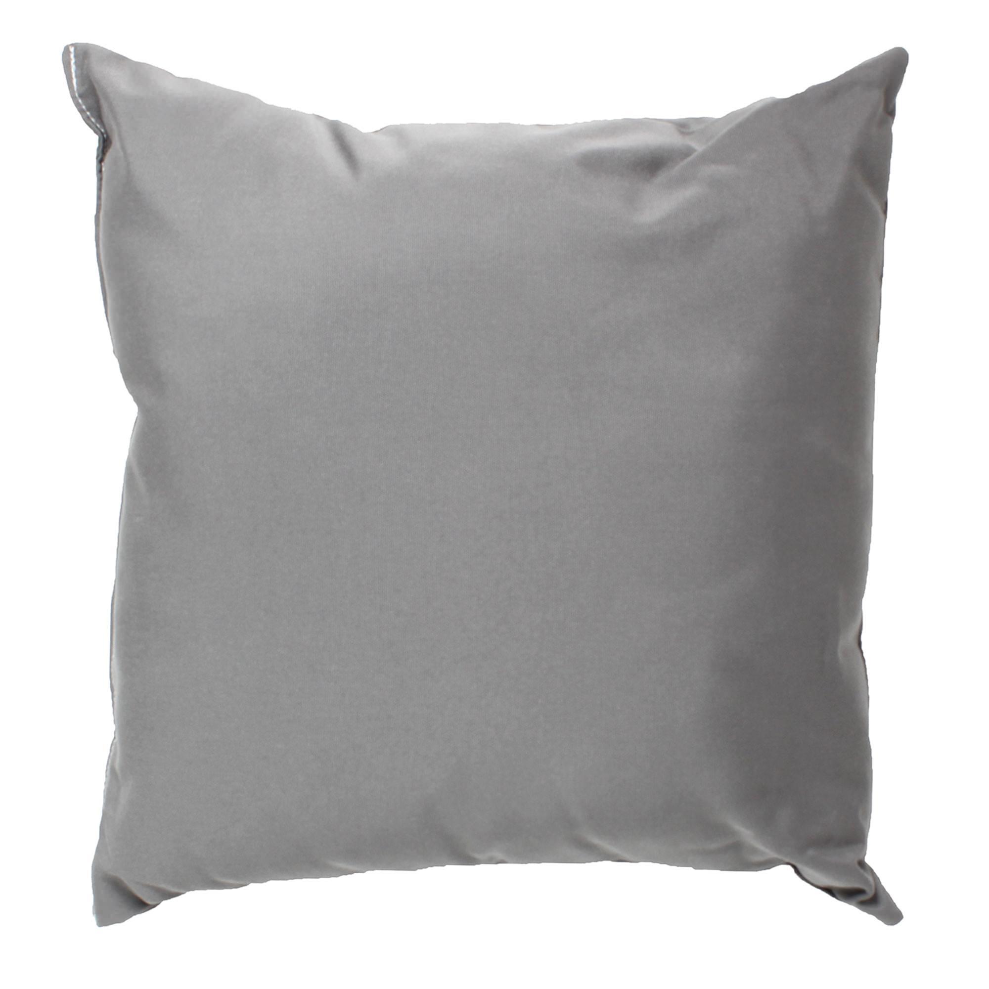 Charcoal Gray Sunbrella Outdoor Throw Pillow