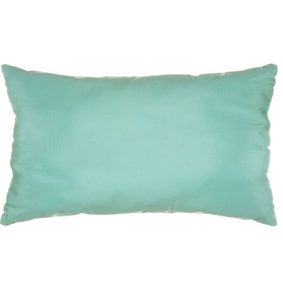 Glacier Sunbrella Outdoor Throw Pillow (19 in. x 10 in.)