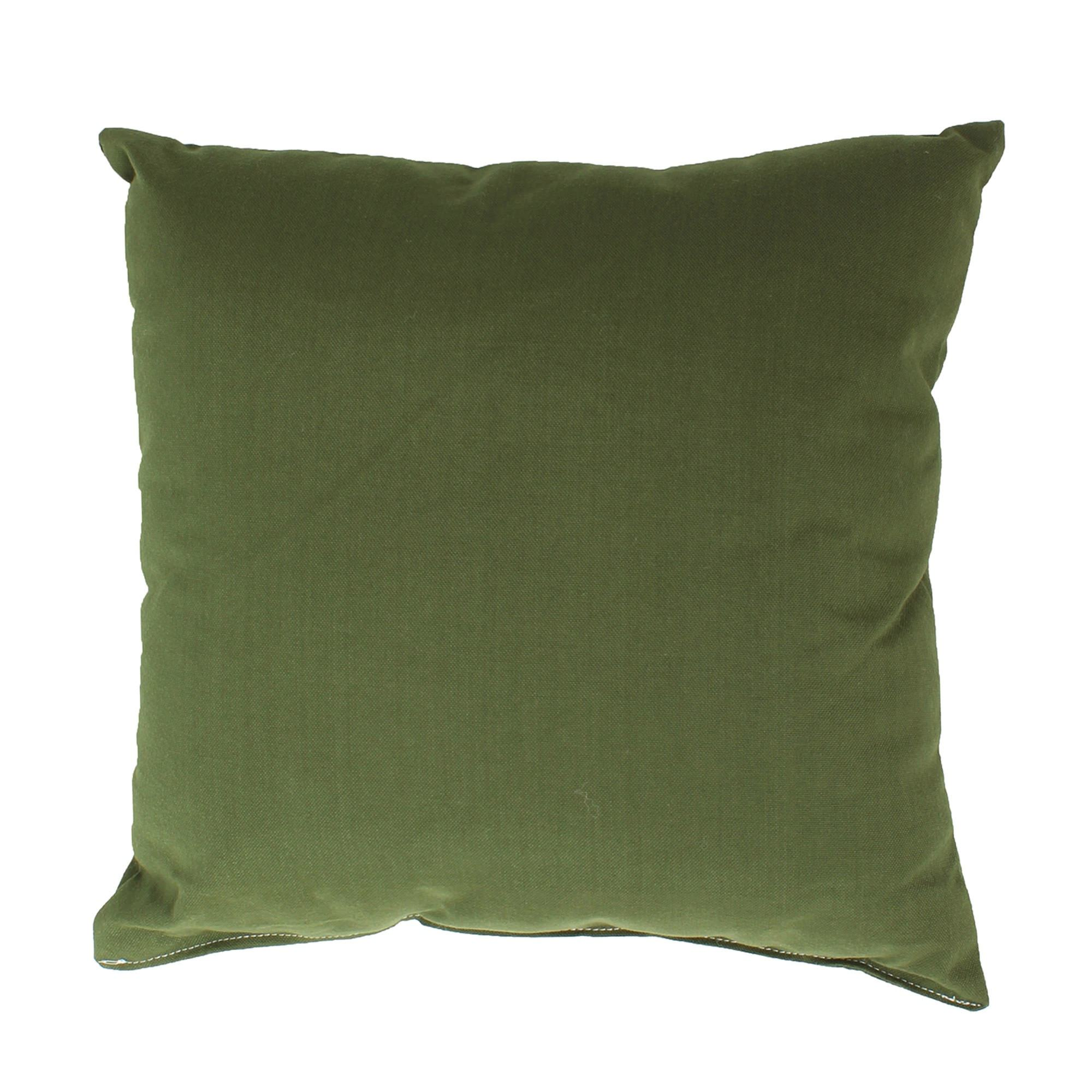 Shop Leaf Green Outdoor Throw Pillow 19 In X 19 In Square Essentials By Dfo Pillows Outdoors Dfohome Com