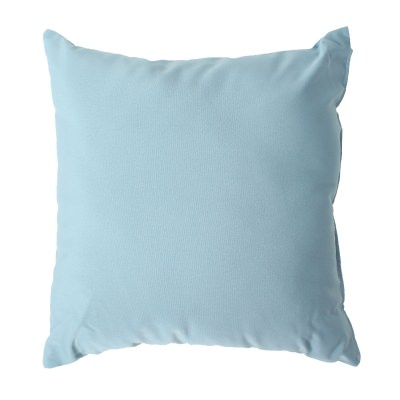 Mineral Blue Sunbrella Outdoor Throw Pillow 19 in. x 10 in. Rectangle