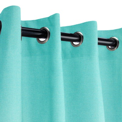 Sunbrella Canvas Aruba Outdoor Curtain with Grommets