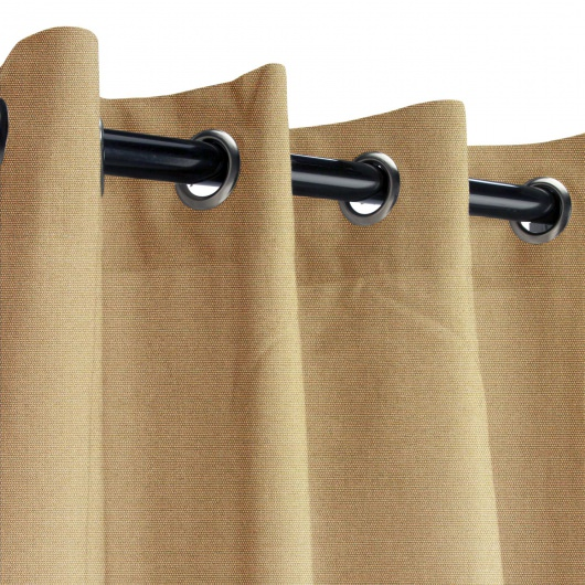 Sunbrella Canvas Camel Outdoor Curtain with Grommets