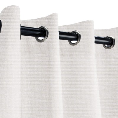 Sunbrella Canvas Canvas Outdoor Curtain with Grommets