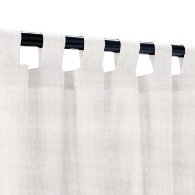 Sunbrella Canvas Canvas Outdoor Curtain with Tabs 50 in. x 96 in.  w/ Stabilizing Grommets
