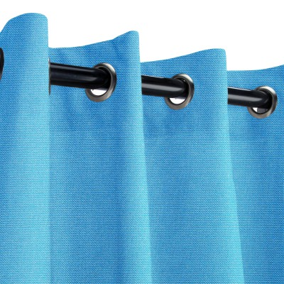 Sunbrella Canvas Capri Outdoor Curtain with Grommets