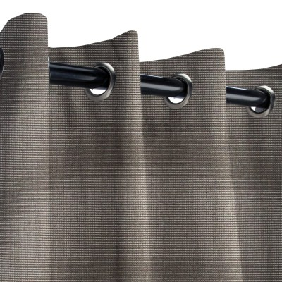 Sunbrella Canvas Coal Outdoor Curtain with Grommets