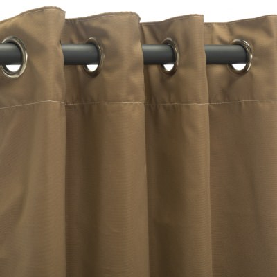 Sunbrella Canvas Cocoa Outdoor Curtain with Grommets