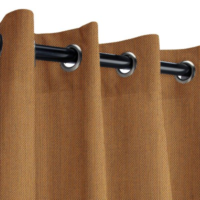 Sunbrella Canvas Cork Outdoor Curtain with Grommets