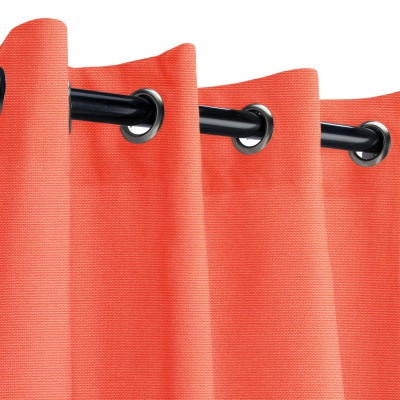 Sunbrella Canvas Melon Outdoor Curtain with Grommets
