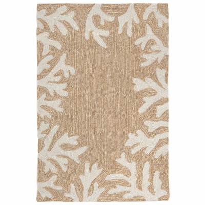 Capri Coral Border Indoor/Outdoor Rug - Neutral