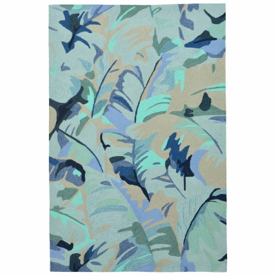 Capri Palm Leaf Indoor/Outdoor Rug - Blue