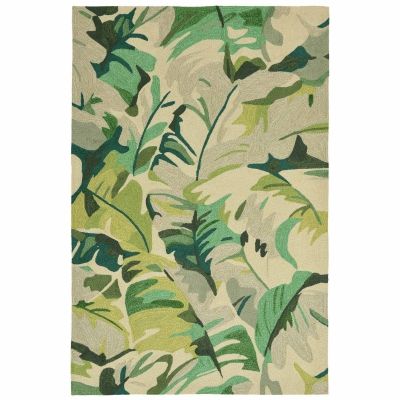 Capri Palm Leaf Indoor/Outdoor Rug - Green