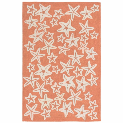 Capri Starfish Indoor/Outdoor Rug - Coral