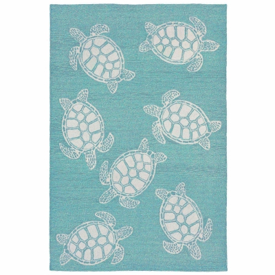 Capri Turtle Indoor/Outdoor Rug - Aqua