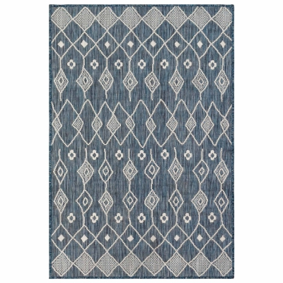 Carmel Marrakech Indoor/Outdoor Rug - Navy