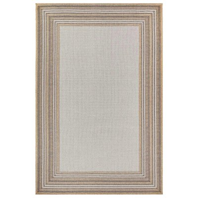 Carmel Multi Border Sand Indoor/Outdoor Rug