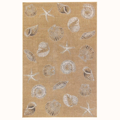 Carmel Shells Indoor/Outdoor Rug - Sand