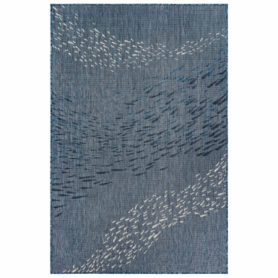 Carmel School of Fish Indoor/Outdoor Rug - Navy