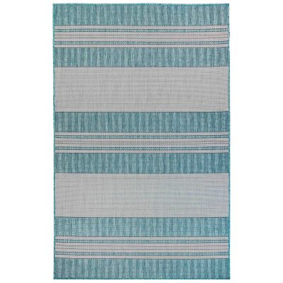 Carmel Stripe Aqua Indoor/Outdoor Rug
