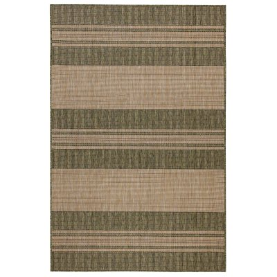 Carmel Stripe Green Indoor/Outdoor Rug