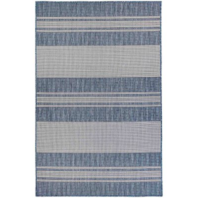 Carmel Stripe Navy Indoor/Outdoor Rug