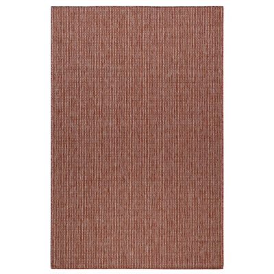 Carmel Texture Stripe Red Indoor/Outdoor Rug