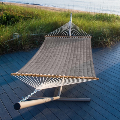 Large Quilted Fabric Hammock - Cast Dusk