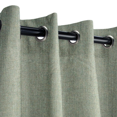 Sunbrella Cast Sage Outdoor Curtain