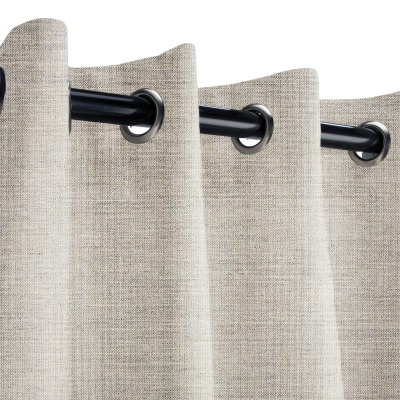 Sunbrella Cast Silver Outdoor Curtain with Grommets
