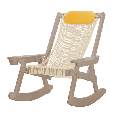 Coastal Weatherwood Rope Rocker