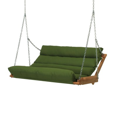 Deluxe Duracord Cushion Swing - Leaf Green