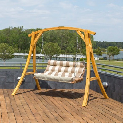 Deluxe Sunbrella Cushion Swing - Regency Sand