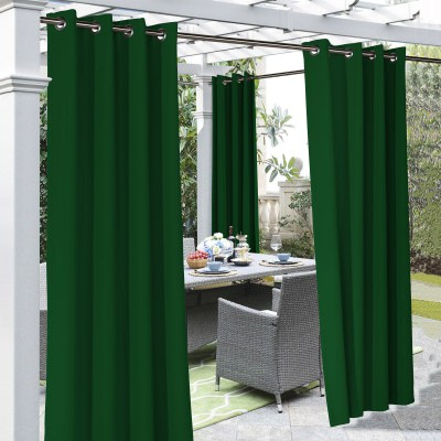 Irish Green Coastal Polyester Outdoor Curtain