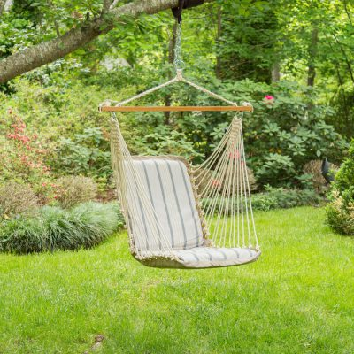 Sunbrella Cushioned Single Swing - Cove Pebble