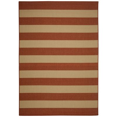 Beach Service Terra Cotta Porch Rug