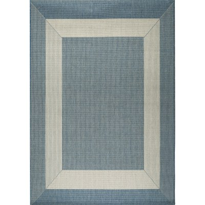 Blue and Champagne Boardwalk Porch Rug