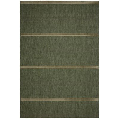 Inlet Stripe Green Porch Rug