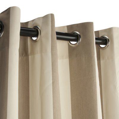 Sunbrella Regency Sand Outdoor Curtain with Grommets