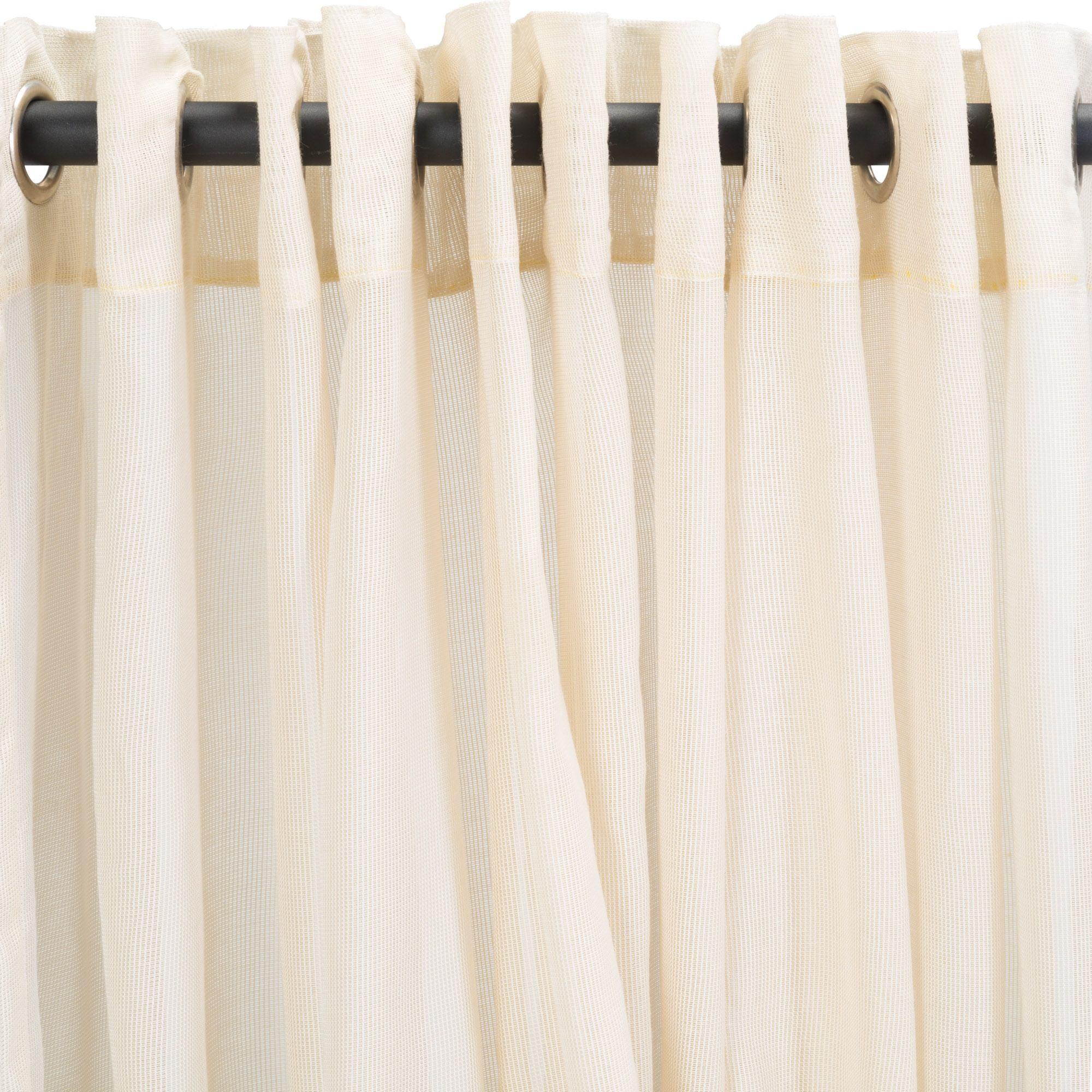 Sheer Beige Extra Wide Outdoor Curtain