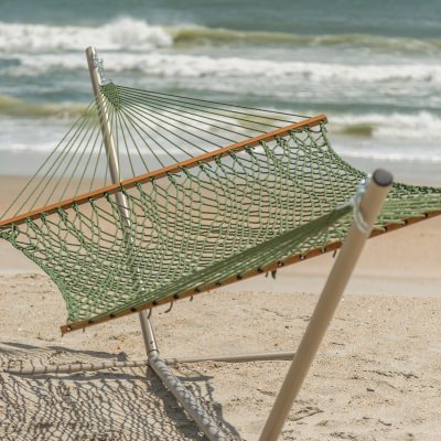 Deluxe DuraCord Rope Hammock - Meadow
