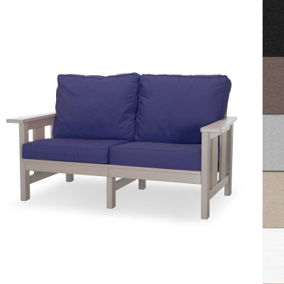Durawood Deep Seating Love Seat with Sunbrella Cushions