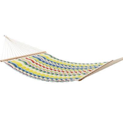 Large Polyester Pillowtop Hammock - Summer Stripe