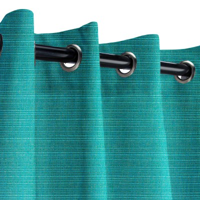 Sunbrella Dupione Deep Sea Outdoor Curtain
