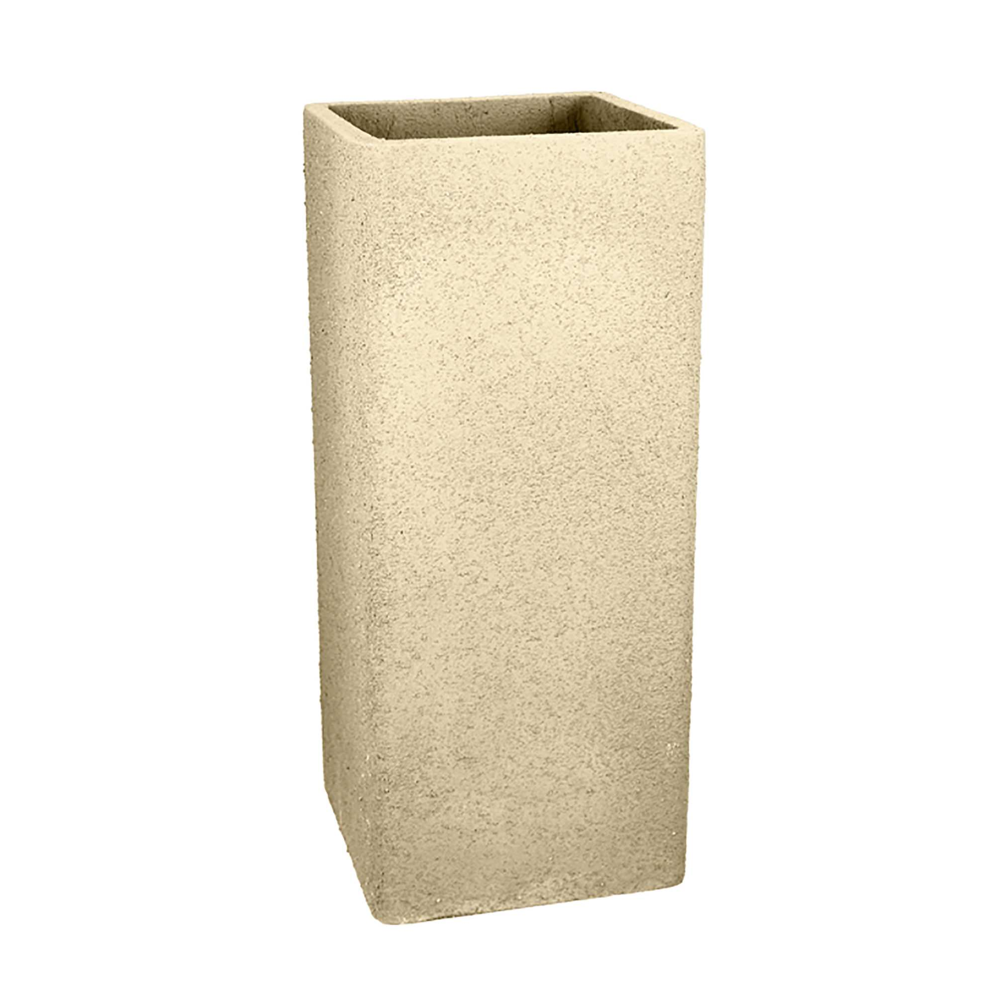 36 In Tall Square Fiberclay Outdoor Patio Planter Pot Available Cream Grey Or Anthracite