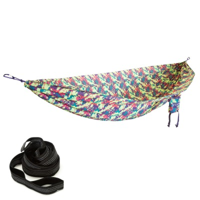 ENO CamoNest Hammock with Castaway Travel Hammocks Straps
