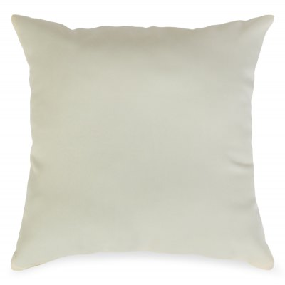 Cream Outdoor Throw Pillow 19 in. x 19 in. Square