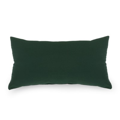 Green Outdoor Throw Pillow 19 in. x 10 in. Rectangle/Lumbar