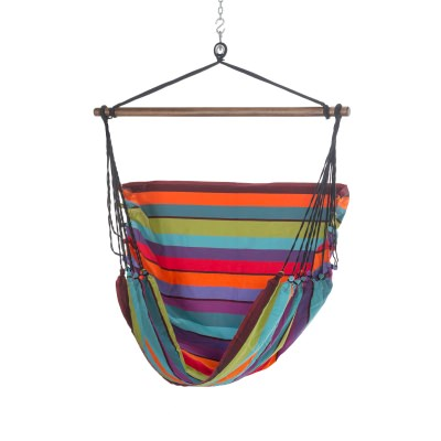 El Salvador Bright Stripe Hammock Swing Chair