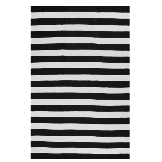 Nantucket Black and White Outdoor Rug (5ft x 8ft)