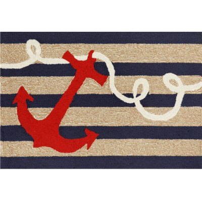 Frontporch Anchor Navy Outdoor Rug